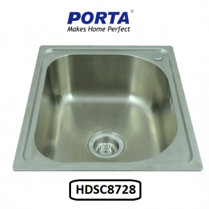 Porta Stainless Steel Single Bowl Sink Model:(HDSC8728)