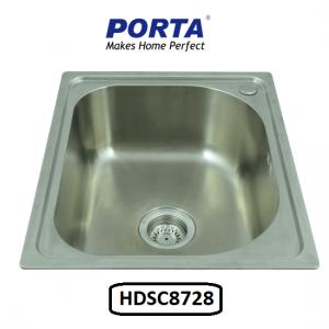 Porta Stainless Steel Single Bowl Sink Model:(HDSC8728)
