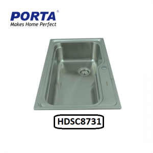 Porta Stainless Steel Single Bowl Sink Model:(HDSC8731)