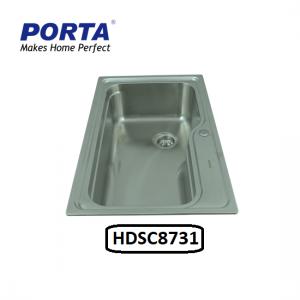 Porta Stainless Steel Single Bowl Sink Model:(HDSC8731)
