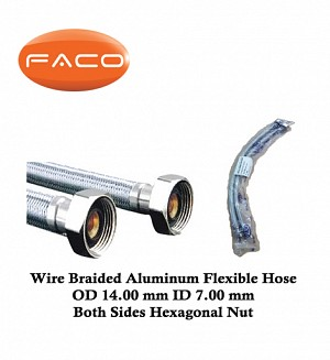 Faco Wire Braided Aluminum Flexible Hose