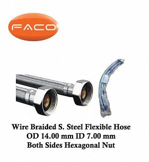 Faco Wire Braided S.Steel Flexible Hose
