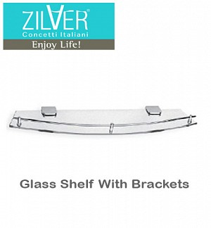 Zilver Glass Shelf With Brackets
