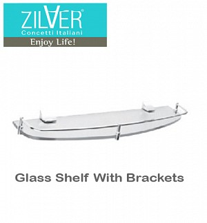 Glass Shelf With Brackets