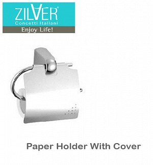 Zilver Paper Holder With Cover 3
