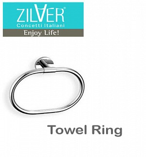 Zilver Round Series Towel Ring