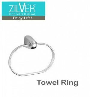 Zilver Bold Series Towel Ring