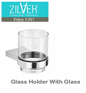 Zilver Cube Series Glass Holder With Glass