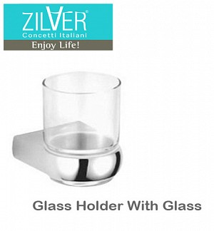 Zilver Bold Series Glass Holder With Glass