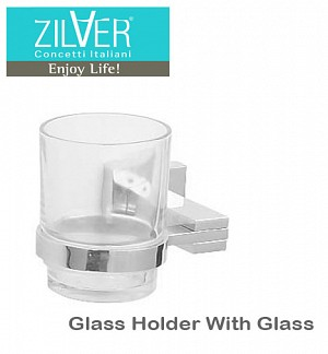 Zilver Platz Series Glass Holder With Glass