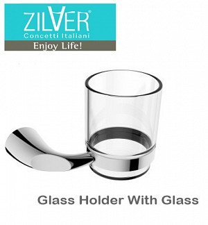 Zilver Rio Glass Holder With Glass