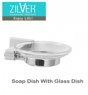 Zilver Platz Series Soap Dish With Glass Dish