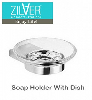 Zilver Cube Series Soap Holder With Dish