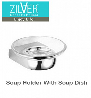 Zilver Bold Series Soap Holder With Soap Dish