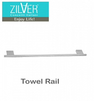 Zilver Cube Series Towel Rail