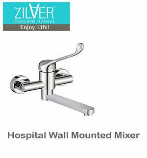 Zilver Hospital Wall Mounted Mixer