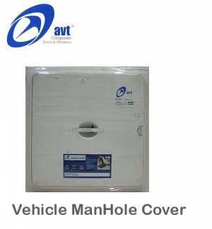 AVT ManHole Cover Vehicle White