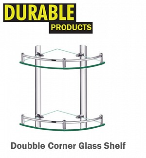 Doubble Corner Glass Shelf