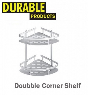 Doubble Corner Shelf Aluminum