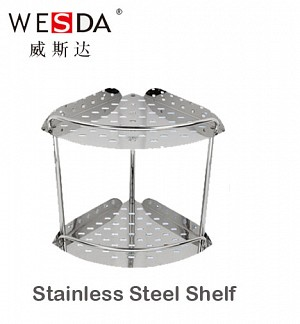 Wesda Stainless Steel Double Corner Shelf