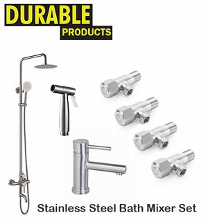 Stainless Steel Bath Mixer Set