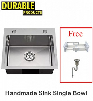 Handmade Kitchen Sink Single Bowl 50 x 42