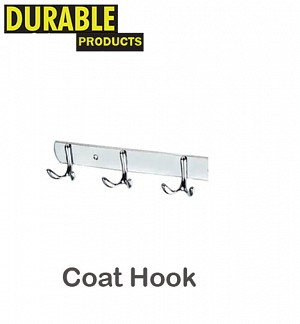 Stainless Steel Dual Coat Hook 3