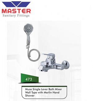 Master Muse Single Lever Bath Mixer Wall Type With Muse Hand Shower (473)