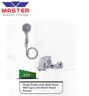 Master Hazle Single Lever Bath Mixer Wall Type With Hazle Hand Shower (470)