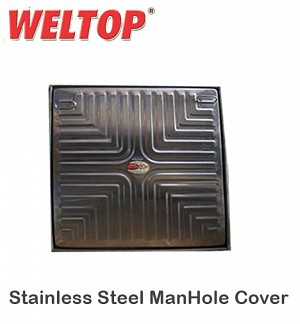 Weltop Stainless Steel ManHole Cover 18 X 18 Heavy