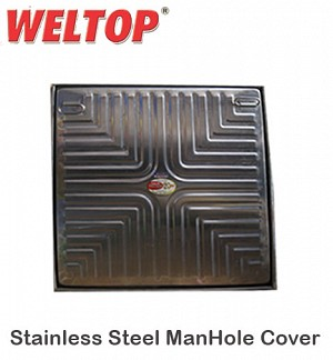 Weltop Stainless Steel ManHole Cover 24 X 24 Heavy