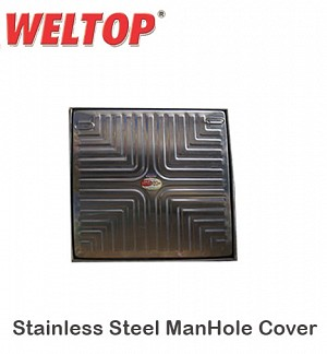 Weltop Stainless Steel ManHole Cover 12 X 12 Heavy