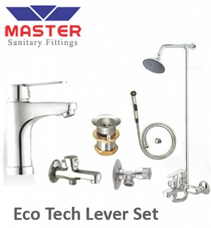 Master Silver Series Eco Tech Lever Set With Over Head Shower (3099A)