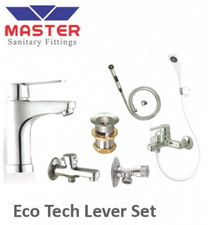 Master Silver Series Eco Tech Lever Set With Hand Shower (3099)
