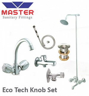 Master Silver Series Eco Tech Knob Set With Over Head Shower (3098A)
