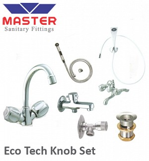 Master Silver Series Eco Tech Knob Set With Hand Shower (3098)